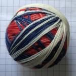 Dyeing self-striping sock yarn
